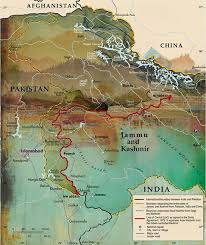 Map Of India And Pakistan by The Pursuit Of Kashmir In Depth Herald