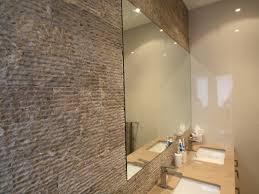 fancy bathroom feature wall in home design ideas with bathroom