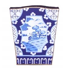 canton porcelain canton in blue wastebasket danagibson