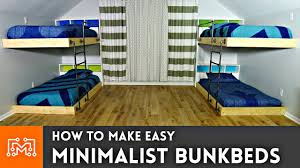 A Frame Bunk Bed Easy Bunk Beds Woodworking How To