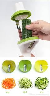vegetable spiral slicer cutter with 3 blades handheld veggie sala