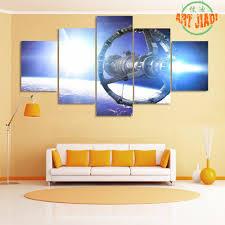 aliexpress com buy 5 panel canvas art space planet movie