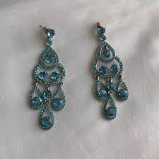 blue earrings jewelry light blue drop earrings poshmark
