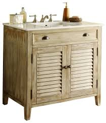 Distressed Bathroom Vanities Modetti Palm Beach Cottage Single Bathroom Vanity 36