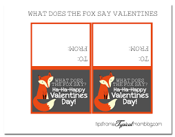 what does the fox say valentines free printables tips from a