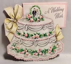 wedding wishes cake beautiful layered wedding cake pink roses 1950 s vintage wedding