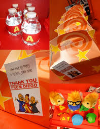 Mcdonalds Invitation Card Mkr Creations Alvin And The Chipmunks Party Theme
