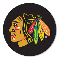 amazon com fanmats nhl chicago blackhawks nylon face hockey puck