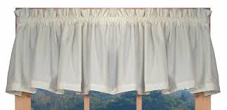 Linen Valance Amazon Com Kerry Solid Color Tailored Valance Curtain 74 Inch By