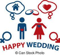 concept mariage clipart vecteur de mariée concept silhouette mariage robe