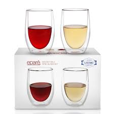 amazon com dimple self chilling stemless wine glasses magnetic