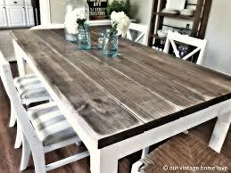 distressed wood table and chairs 10 diy dining table ideas build your own table minwax stain