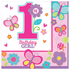 1st birthday girl sweet 1st birthday girl napkins 1st birthday partyware party ark