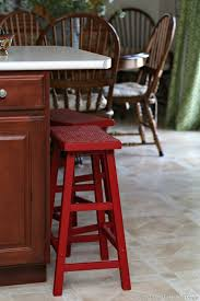 why i painted my bar stools imperial red petticoat junktion