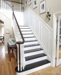 Painting A Banister White Option 2 White Painted Balusters Black Painted Newel Post And