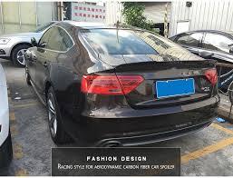 audi s5 trunk auto rear trunk spoiler wing carbon fiber fit for audi a5 s5 4door