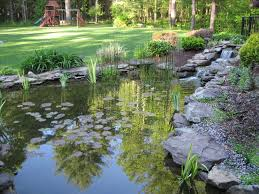 pond landscaping design with natural stone services services large
