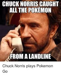 Chuck Norris Funny Meme - chuck norris caught all the pokemon from a landline chuck norris
