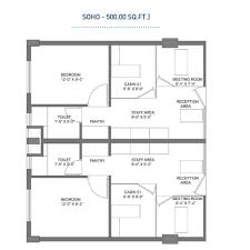500 Sqft by 100 500 Sq Ft Floor Plan Kingdom Of Property Houseplans Biz