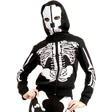 amazon com women u0027s black u0026 white skeleton costume hoodie clothing