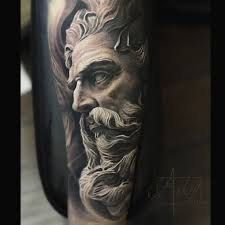 neptune god of the sea sleeve best tattoo design ideas