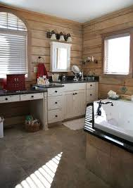 bathrooms with white cabinets pictures of log home bathrooms the log home guide