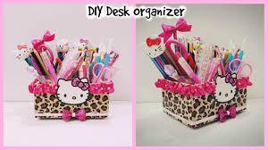 diy desk organizer cardboard hello kitty organizer diy make up