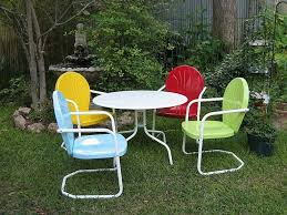 Painting Metal Patio Furniture - how to paint metal patio chair u2013 outdoor decorations