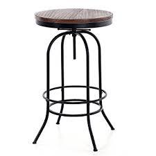 industrial style pub table amazon com ikayaa 24inch bar pub table round pinewood industrial
