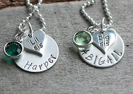 Personalized Hand Stamped Jewelry Necklaces For Sisters