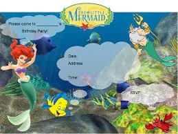 little mermaid birthday invitations printable printable invitations