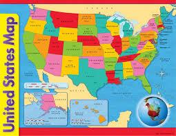 usa map kindergarten chart usa map 17 x 22 gr 1 8 t 38097