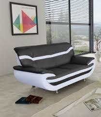canap design 2 places canapé fixe design 2 places en pu noir blanc adelice canapé fixe