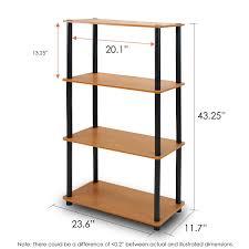 amazon com furinno 99557lc bk turn n tube 4 tier multipurpose