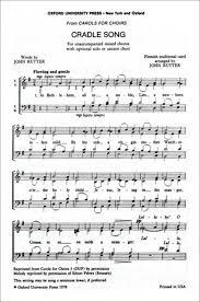 cradle song sheet by rutter sheet plus