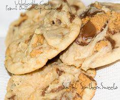 sinful southern sweets chocolate peanut butter candy bar cookies