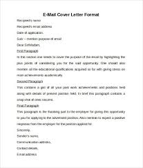 sle of email cover letter cover letters in email sle email cover letters sle cover