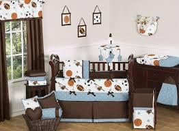 Sports Themed Crib Bedding Baby Nursery Decor Brown Minimalist Baby Boy Sports Nursery