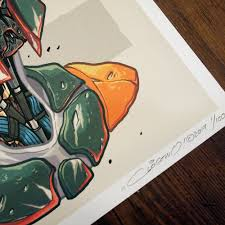 spirit halloween boba fett mechasoul bobafett print by clogtwo available now for 24hour time