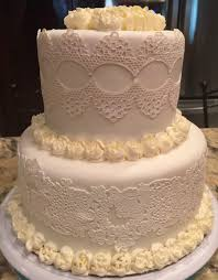 white on white edible lace wedding cake cakecentral com