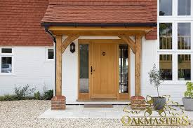 open porch with oak posts and brackets 5421 oakmasters