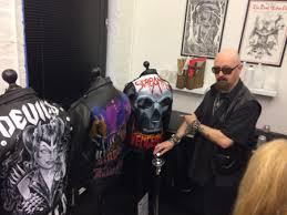 rob halford rocks up at judas priest u0027hell bent for leather u0027 art