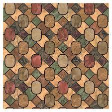 shop allen roth earth tone mosaic tile wallpaper at lowes com