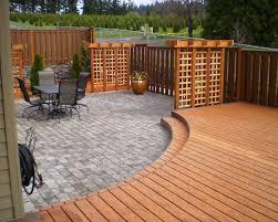 combined patio deck and flagstone patio patio design ideas 5526
