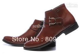 s boots buckle brand s pointed toe zipper buckle high top cow leather dress