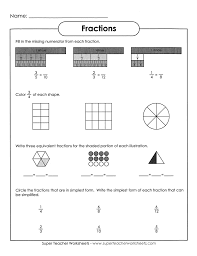 fractions in simplest form worksheet multiplication by 7