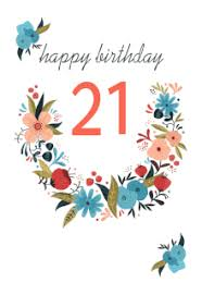 free printable 21st birthday cards greetings island