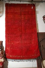 Red Tribal Rug Moroccan Tribal Rug Double Side Red