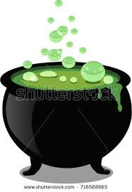 free halloween clipart witch cauldron black witch cauldron boiling potion isolated stock vector