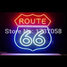 Neon Bar Lights Neon Sign Route 66 Garage Handicrafted Real Glass Custom Neon